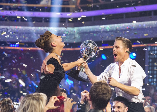 "Bindi Irwin and Derek Hough were crowned Season 21 champions during the two-hour season finale of ""Dancing with the Stars."" Photo Credit: ABC/Kelsey McNeal."