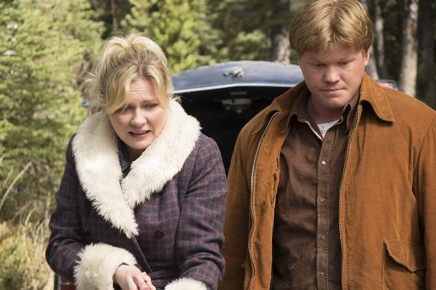 "Fargo -- ""Loplop"" -- Episode 208 (airs Monday, November 30, 10:00 pm e/p). Pictured: (l-r) Kirsten Dunst as Peggy Blumquist, Jesse Plemons as Ed Blumquist. Photo Credit: Chris Large/FX."