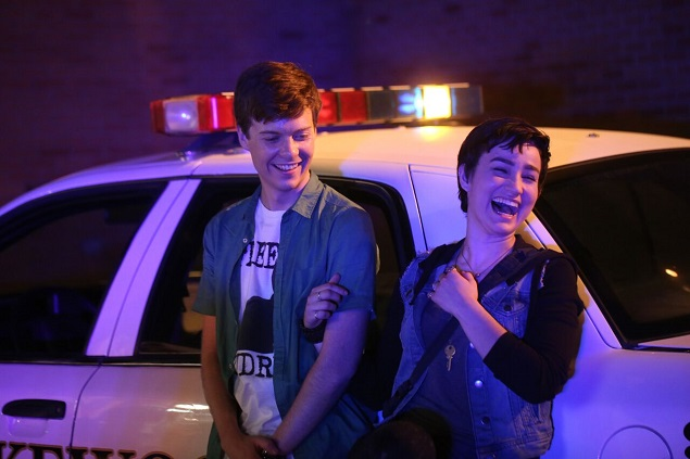 Noah (John Karna) and Audrey (Bex Taylor-Klaus) in Episode 107 of MTV's Scream. Photo Credit: MTV.