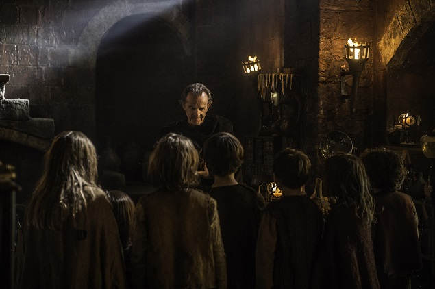 Anton Lesser as the Master of Whisperers in Game of Thrones Season 6, episode 3. Photo Credit: Helen Sloan/courtesy of HBO.