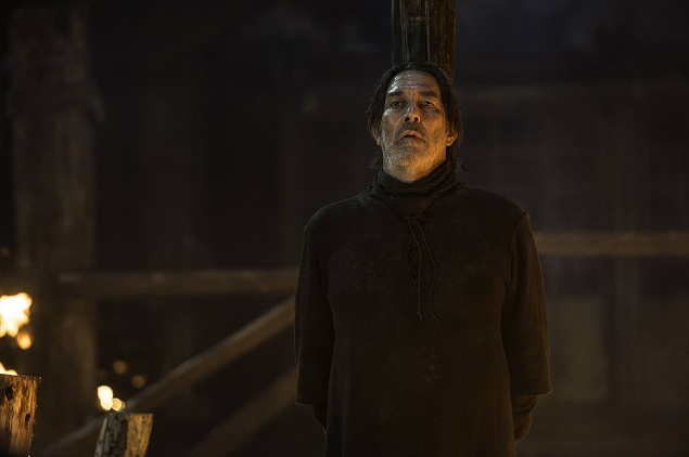 Ciaran Hinds as Mance Rayder in Season 5 of Game of Thrones. Photo Credit: Helen Sloan/courtesy of HBO.