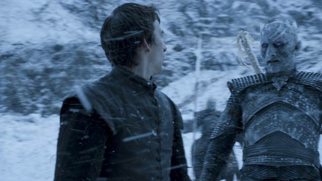 Isaac Hempstead Wright as Bran Stark and Vladimir Furdik as the Night King in Season 6 of Game of Thrones. Photo Credit: courtesy of HBO.