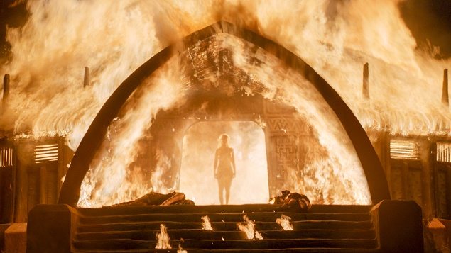 Emilia Clarke as Daenerys Targaryen in Season 6 of Game of Thrones. Photo Credit: courtesy of HBO.
