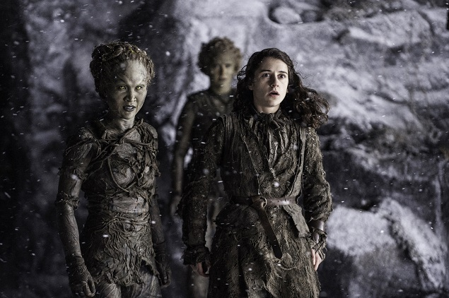 Kae Alexander as Leaf and Ellie Kendrick as Meera Reed in Season 6 of Game of Thrones. Photo Credit: Helen Sloan/courtesy of HBO.