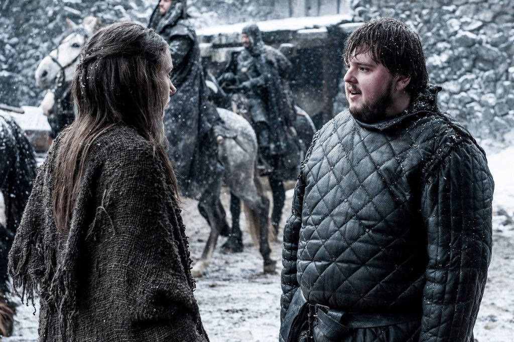 Hannah Murray, John Bradley in Season 5 of Game of Thrones. Photo Credit: Helen Sloan/courtesy of HBO.