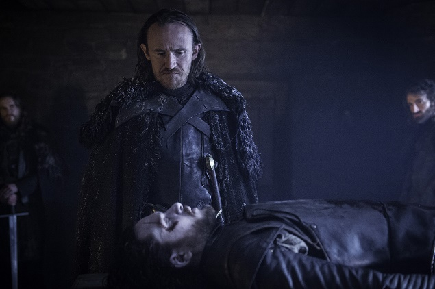 Pictured: Eddison Tollett (Ben Crompton) and Jon Snow (Kit Harington) in GoT's Season 6, episode 1. Photo Credit: Helen Sloan/courtesy of HBO.