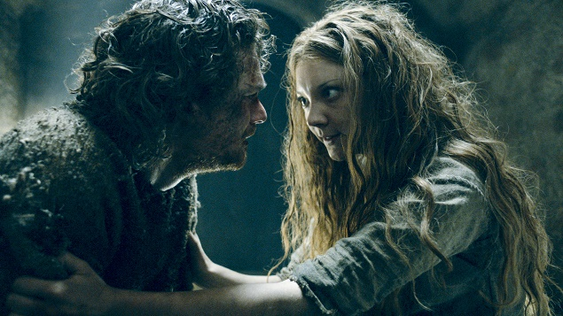 Finn Jones as Loras Tyrell and Natalie Dormer as Queen Margaery. Photo Credit: courtesy of HBO.