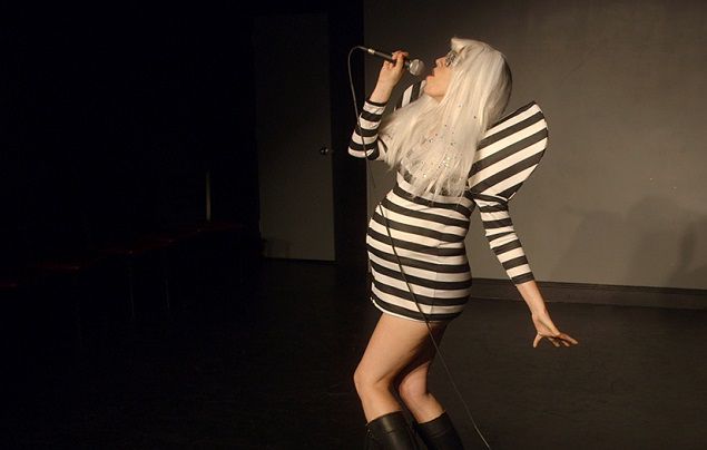 Athena Reich, a contestant in haveababy, makes a living as a Lady Gaga impersonator. Photo courtesy of Runaway Films.