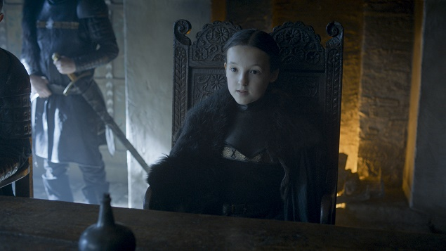 Bella Ramsey as Lady Mormont in Season 6 of Game of Thrones. Photo Credit: courtesy of HBO.