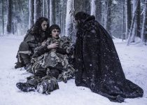Ellie Kendrick as Meera Reed, Isaac Hempstead Wright as Bran Stark and Joseph Mawle as Uncle Benjen in Season 6 of Game of Thrones. Photo Credit: Helen Sloan/courtesy of HBO.