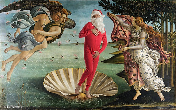 """A rendition of Sandro Botticelli's painting """"The Birth of Venus"""" by artist Ed Wheeler. Photo Credit: Ed Wheeler."""