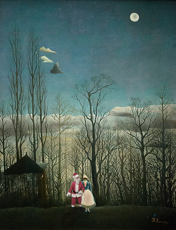 """A rendition of Henri Rousseau's painting """"Carnival Evening"""" by artist Ed Wheeler. Photo Credit: Ed Wheeler."""