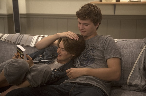 Hazel (Shailene Woodley) and Gus (Ansel Elgort) are two extraordinary teenagers who share an acerbic wit, a disdain for the conventional, and a love that takes them on an unforgettable journey. Photo Credit: James Bridges. TM and © Twentieth Century Fox Film Corporation. All Rights Reserved.