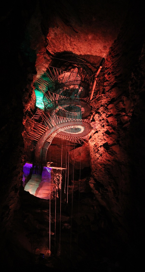 An inside look at Bounce Below, an adventure park located in North Wales. Photo Credit: Bounce Below.