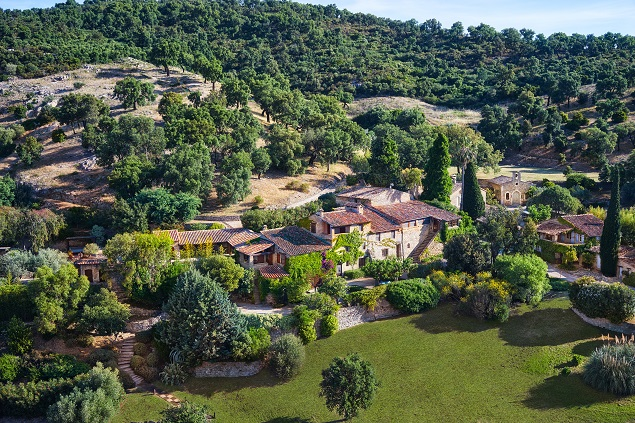 Aerial view of Johnny Depp's estate. Photo Credit: Cote d'Azur Sotheby's International Realty.