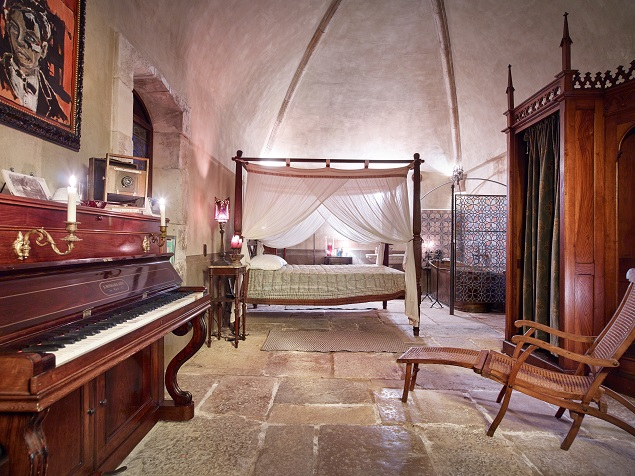 Interior of the church on Johnny Depp's estate. Photo Credit: Cote d'Azur Sotheby's International Realty.