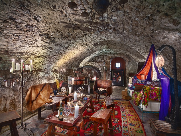 Wine tasting cave inside Johnny Depp's estate. Photo Credit: Cote d'Azur Sotheby's International Realty.