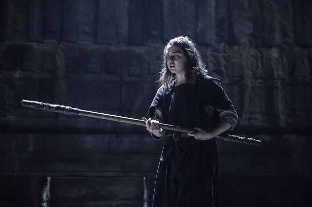 Maisie Williams as Arya Stark in Game of Thrones Season 6, episode 3. Photo Credit: Helen Sloan/courtesy of HBO.