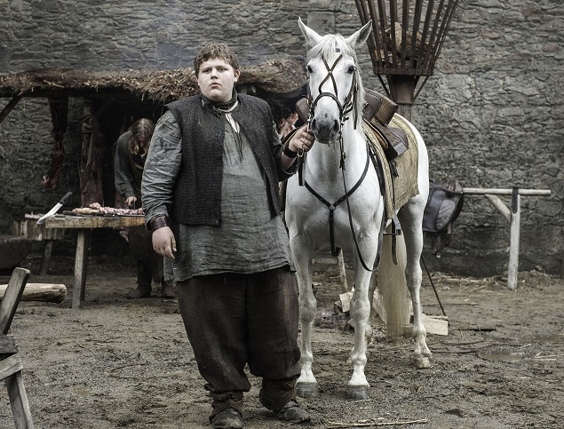 Sam Coleman as a young Hodor in GoT. Photo Credit: Helen Sloan/ courtesy of HBO.