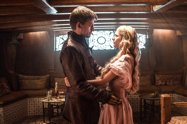 Nikolaj Coster-Waldau, Nell Tiger Free in Season 5 of Game of Thrones. Photo Credit: Helen Sloan/courtesy of HBO.