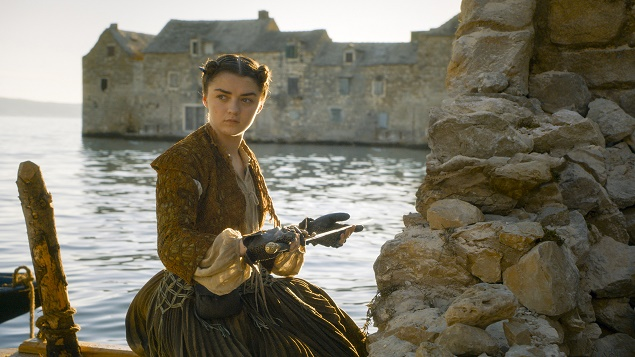 Maisie Williams as Arya Stark in Season 6 of Game of Thrones. Photo Credit: courtesy of HBO.